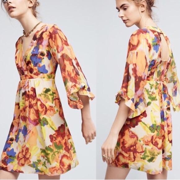 Anthropologie Dresses & Skirts - Maeve Deloria Printed Silk Dress